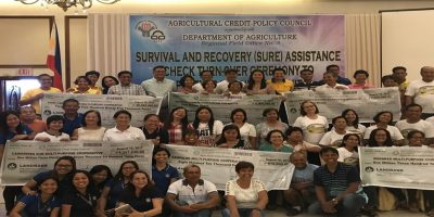 Six lending conduits were tapped by the ACPC for the implementation of the Survival and Recovery (SURE) Assistance Program in the provinces of Camarines Sur and Catanduanes for farmers and fishers affected by Typhoon Niña.