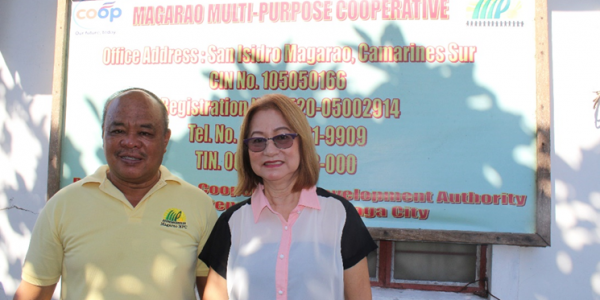 Magarao Multi-Purpose Cooperative Manager Elmer Basbas and Chairperson Estrella Bernardo are grateful to ACPC for entrusting their organization to be a channel of blessing for small farmers in dire need of support.