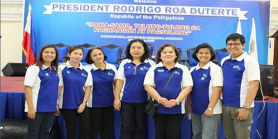 The ACPC led by Executive Director Jocelyn Alma R. Badiola (5th from left) were among those witnessed the handing over of checks to poultry raisers and workers from San Luis, Pampanga