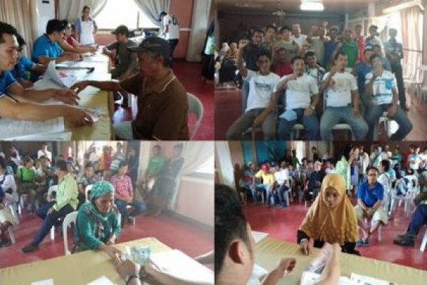 Farmer-Beneficiaries from War-Torn Marawi City expressed their gratitude to DA Secretary Manny Piñol and the ACPC during the loan release under the SURE Assistance Program on November 20-23, 2017 in Iligan City